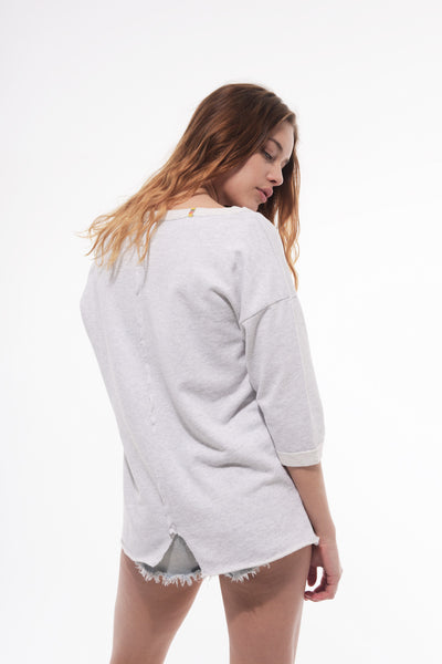 Love and Cry Loose fit split back sweater