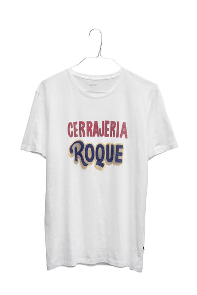 Cerrajeria Roque men's crew neck teeshirt