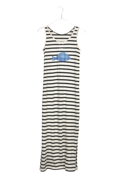 Beirut Fish cotton maxi long dress