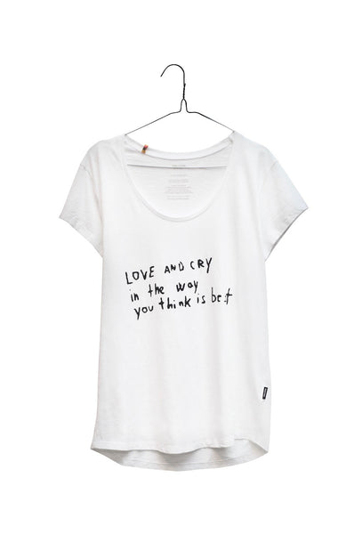 Love and Cry soft slub cotton cotton tee
