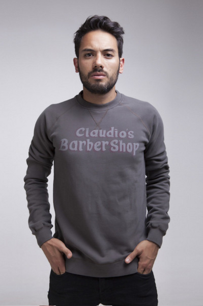Claudio's Barbershop men's sweatshirt