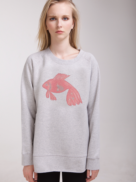 Keshari Aquarium Fish women's loose sweatshirt