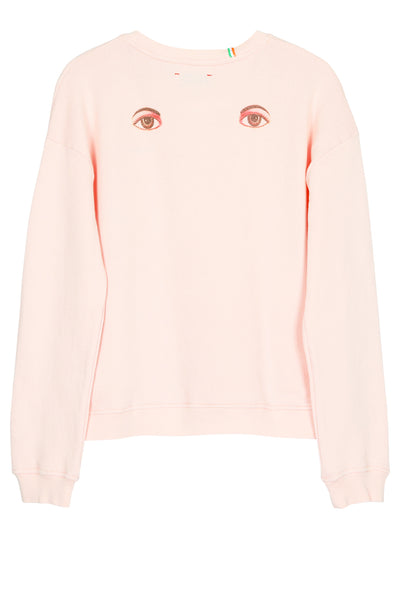 Eyes on my back deluxe loose knit sweater