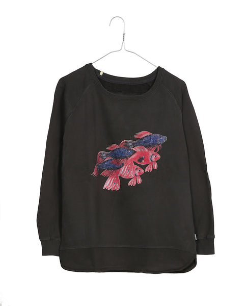 Keshari's Aquarium loose women's sweatshirt