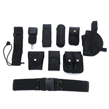 Versatile Multi functional Security Belt with Holster Magazine Pouch