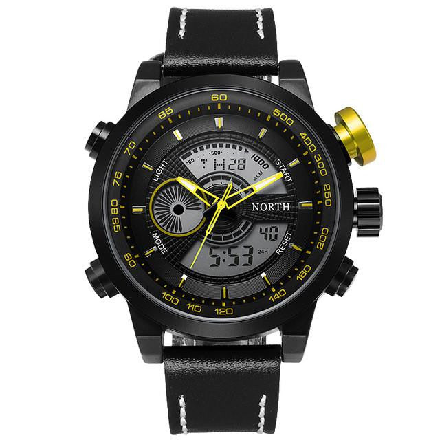 New Full Steel Multifunctional Mens Sports Watch with Precise Analog and Digital Display