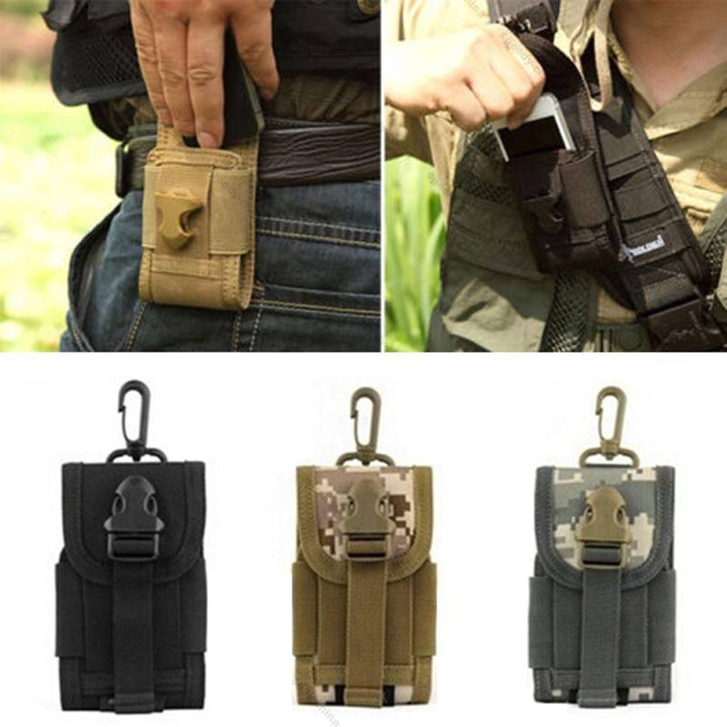 Outdoor Camping Hunting Bags Tactical Molle Cell Phone/Iphone Smartphone Velcro Waist Pouch - Gogobomo Gear
