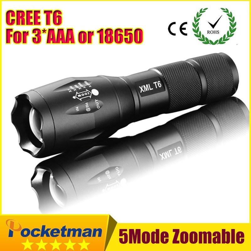CREE XM-L T6 3800Lumens LED Torch Zoomable Flashlight Light (Battery NOT included) - Gogobomo Gear