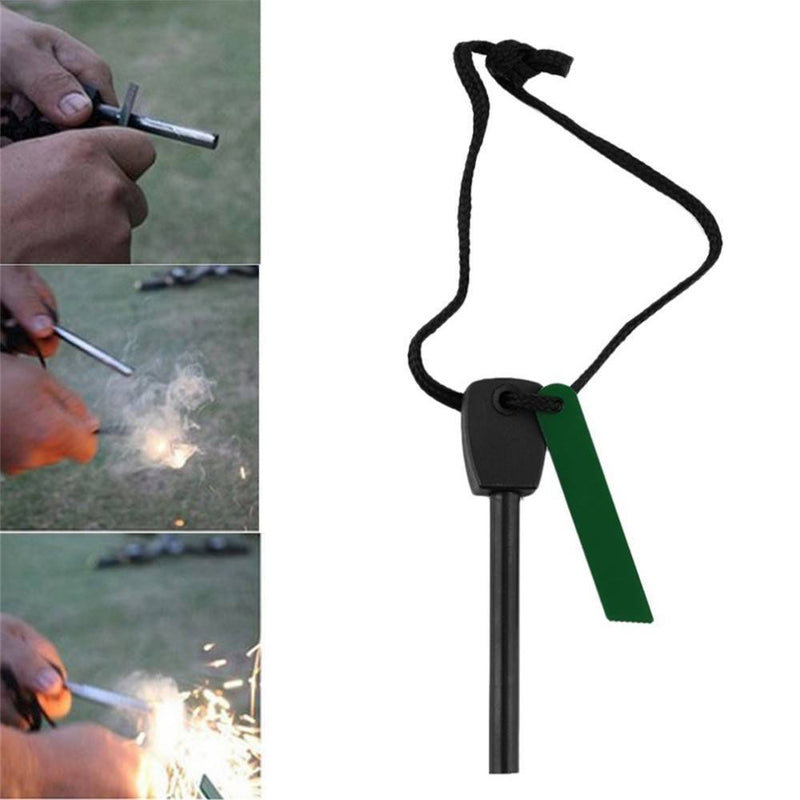 Outdoor Emergency Survival Magnesium Flint Stone Fire Starter Camping Hunting Fishing - Gogobomo Gear