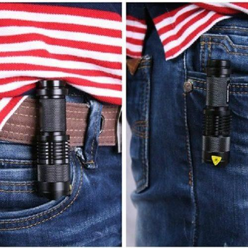 Mini Black CREE 2000LM Waterproof LED Flashlight 3 Modes Zoomable LED Torch Penlight - Gogobomo Gear