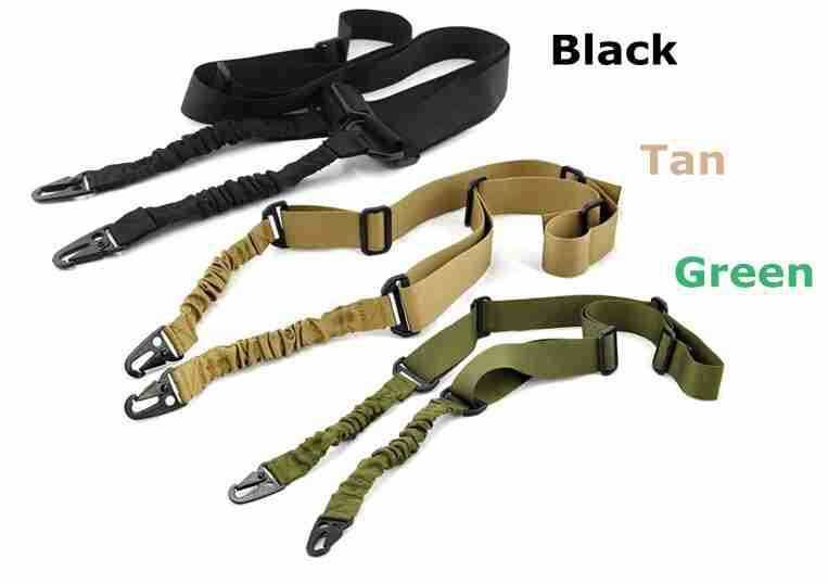 Adjustable Two Point Tactical Rifle Sling Hunting Gun Strap Outdoor Airsoft Bungee System Kit - Gogobomo Gear - 1