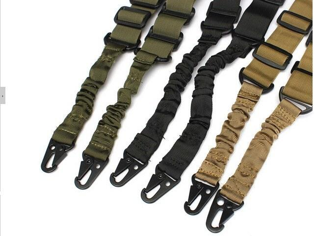 Adjustable Two Point Tactical Rifle Sling Hunting Gun Strap Outdoor Airsoft Bungee System Kit - Gogobomo Gear - 4