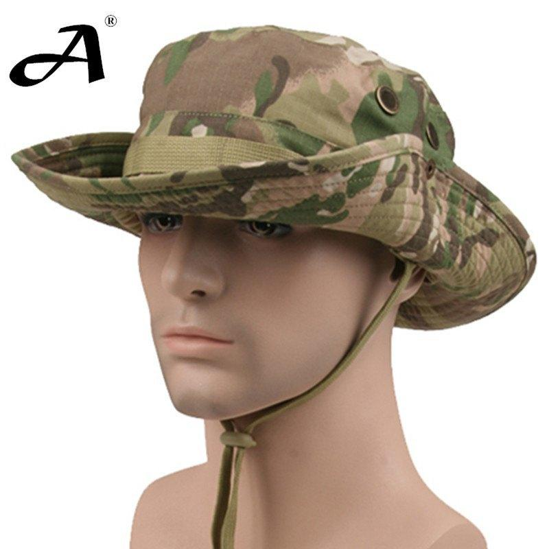 Tactical Airsoft Sniper Camouflage Boonie Hats Nepalese Cap Mens Army Military Hiking Hat - Gogobomo Gear