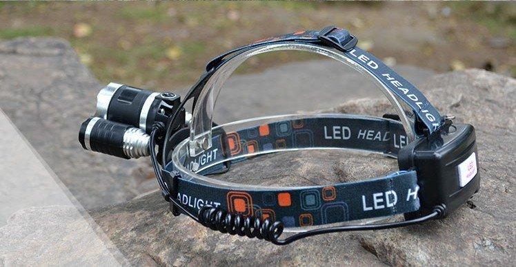 CREE XML 4 Mode Hiking LED Headlamp Headlight 5000 Lumens AC+Car Charger+2 Batteries - Gogobomo Gear