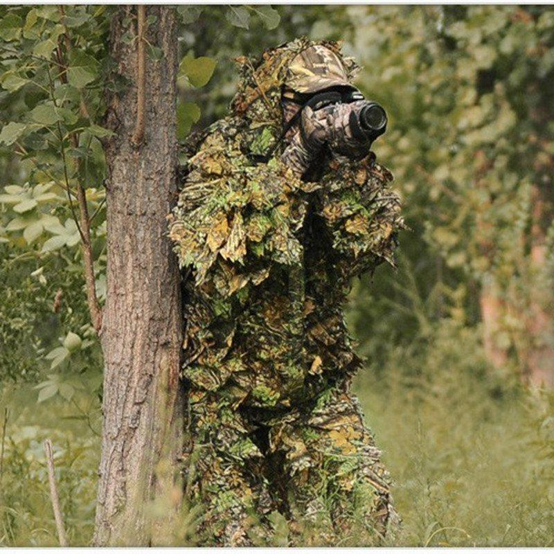 3d leaf yowie sniper ghillie suit jungle camouflage hunting clothes ou gogobomo gear. Black Bedroom Furniture Sets. Home Design Ideas