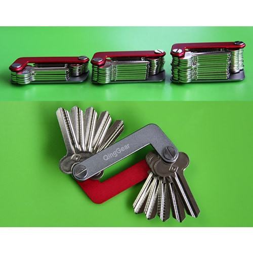 Unique Key Holder Keyring Advanced Organizer Keychain Lightweight Easy Open - Gogobomo Gear