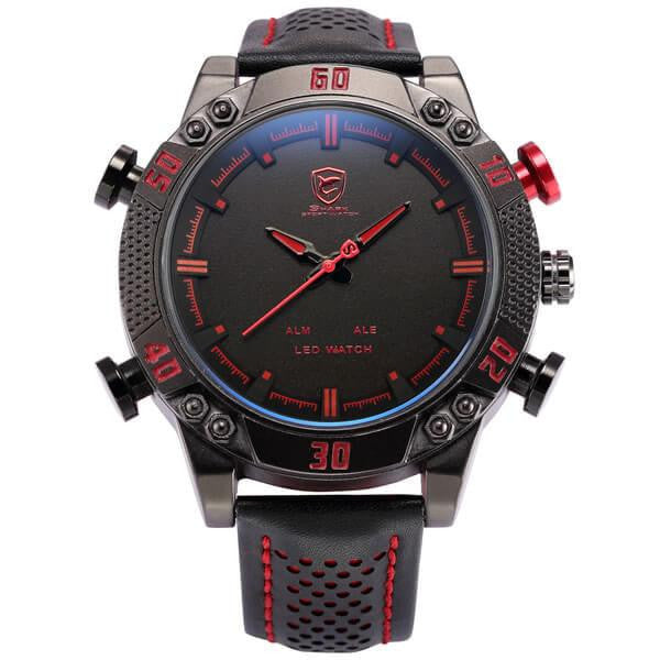 Official Shark Kitefin LED Digital Dual Time Zone Military Watch