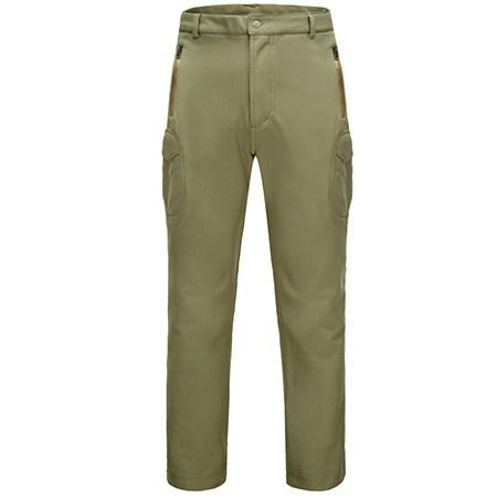 Men's Outdoor Sport Tactical Climbing Hiking Pants Softshell Fleece Fabric Waterproof Windproof - Gogobomo Gear