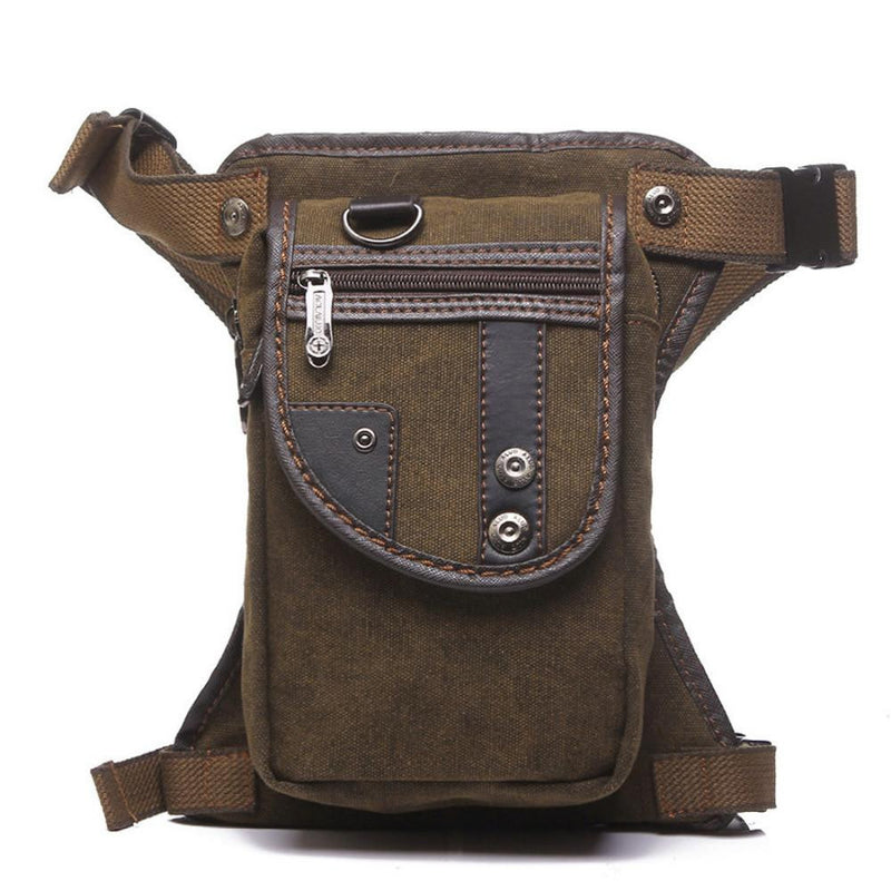 Travelers Military Canvas/Nylon Waist To Leg Belt Bag