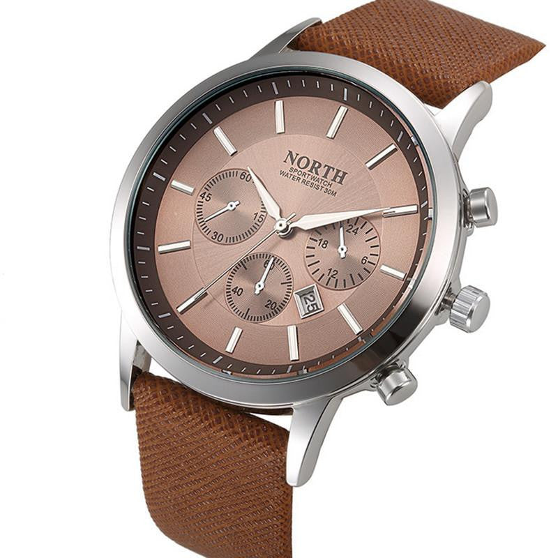 Elegant Masculine Watch for Men with Analog Display and Premium Leather Strap