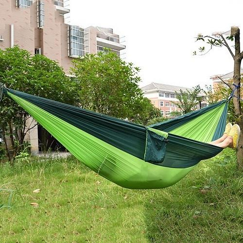 Portable Nylon Parachute Hammock Outdoor Net Bed Double Outdoor Camping Sleeping Survival - Gogobomo Gear