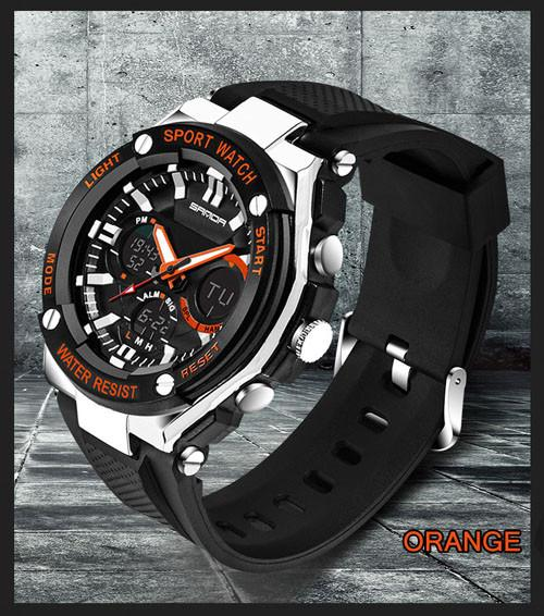 SANDA Sports Military Waterproof Watch Shock Resistant