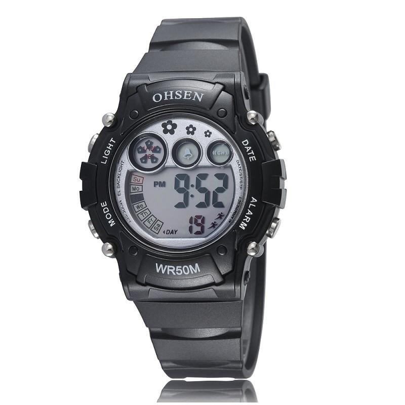Ohsen Women's Digital Analog Sports Watch Silicone Strap LCD Quartz Wristwatch - Gogobomo Gear