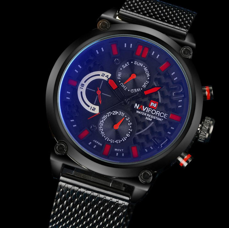 Luxurious NAVIFORCE Watch for Men with Analog Display and Stainless Steel Strap