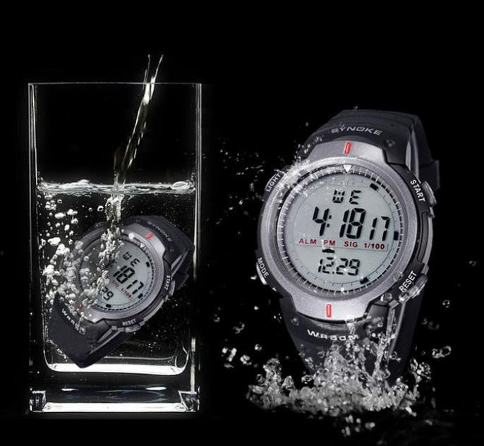Luxury Sports Watch for Men with Digital Display and Premium Rubber Strap