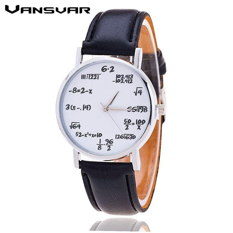 New Unique VANSVAR Watch with Stylish Analog Display and Genuine Leather Strap