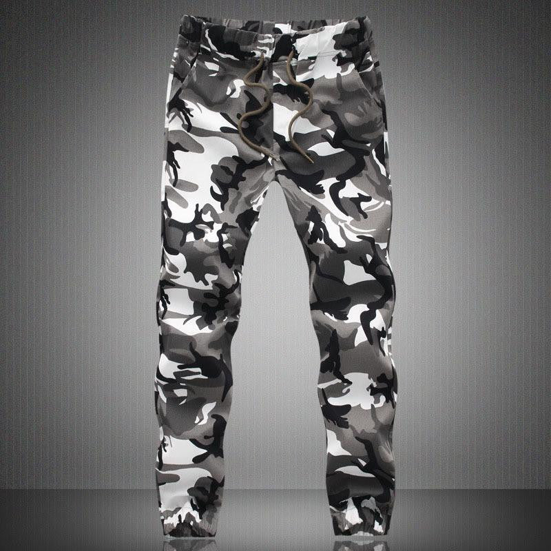 Top Brand Mens Military Camouflage Slim Fit Cut Pants