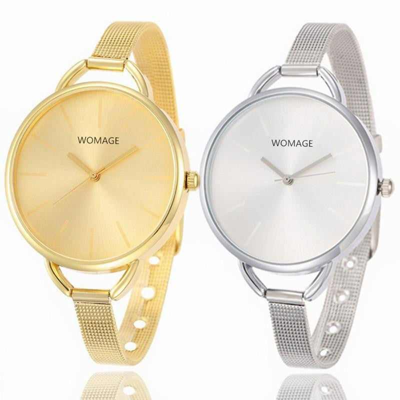 Luxurious WOMAGE Watch for Women with Analog Display and Gorgeous Stainless Steel Strap