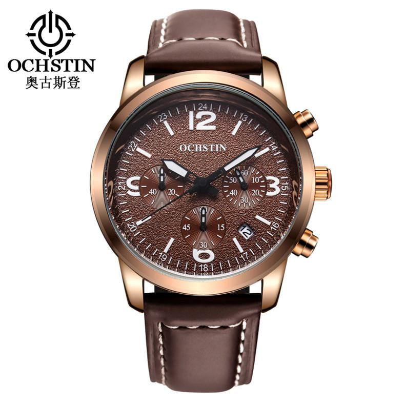 Authentic Brand Mens OCH Oversized Vintage Watch with Precise Time Movement