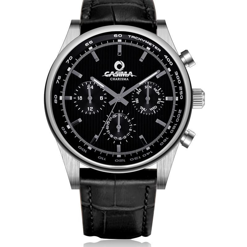 Luxurious casima watch for men with analog display and genuine leather gogobomo gear for Casima watches