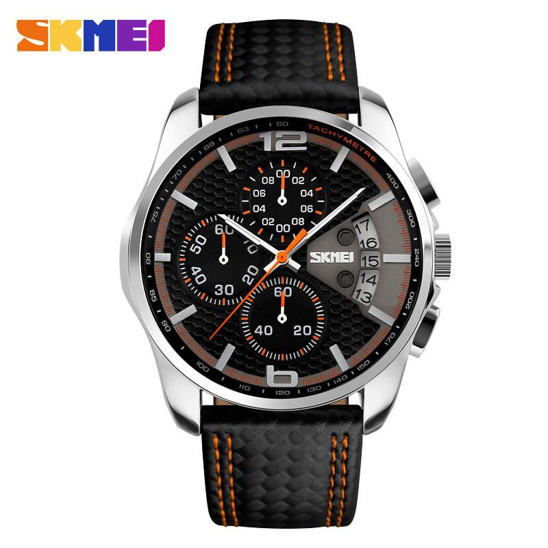 Luxury Men's Leather Band Sports Watch Multiple Dials - Gogobomo Gear