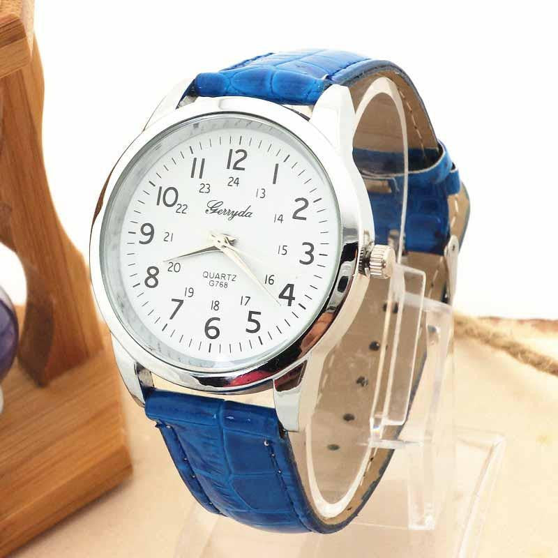Sophisticated Classic-Style GERRYDA Watch for Women with Analog Display and Genuine Leather Strap