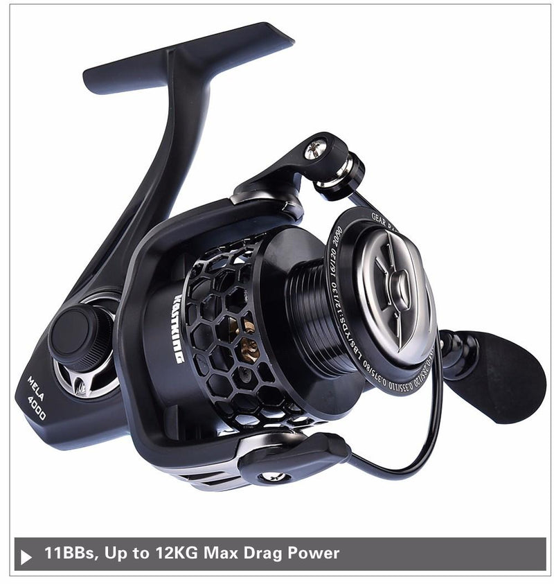Mela Smoother Faster Speed Spinning Reel with Extra Spool Saltwater Fishing Reel