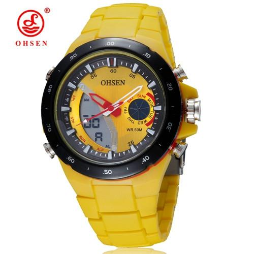 Casual Men's Sports Watch with Silicone Strap - Multiple Colors - Gogobomo Gear