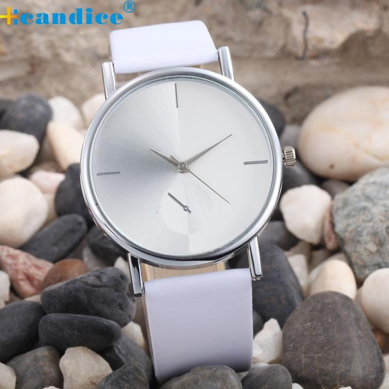 Elegant Watch for Women with Analog Display and Genuine Leather Strap