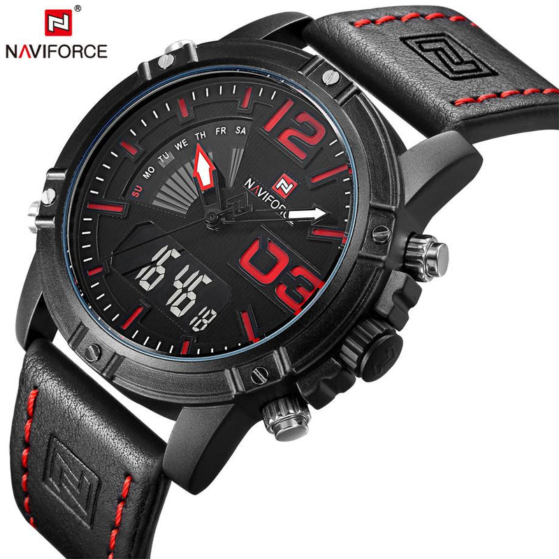 New NAVIFORCE Military Watch for Men with Dual Analog and Digital Display