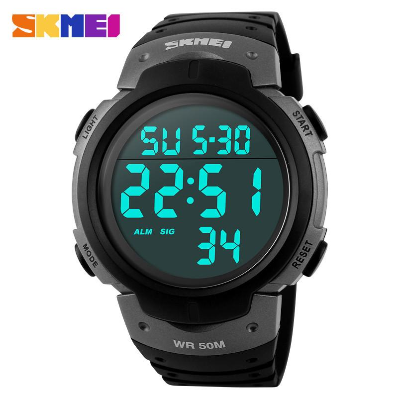 Luxury Brand SKMEI Electronic Men's Sports Watch with LED Digital Time Display
