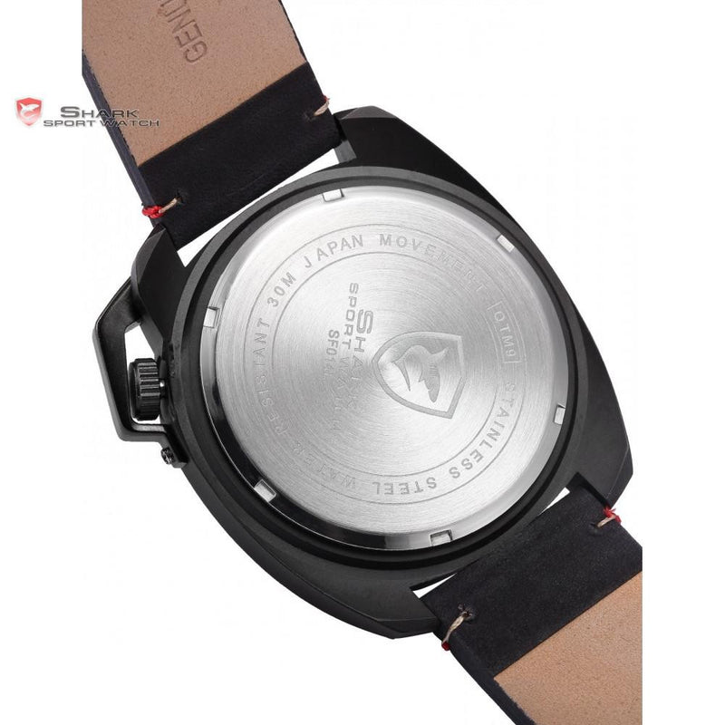 Original Tactical Black Men's Sports Watch with Special Date Design and High Quality Leather Strap