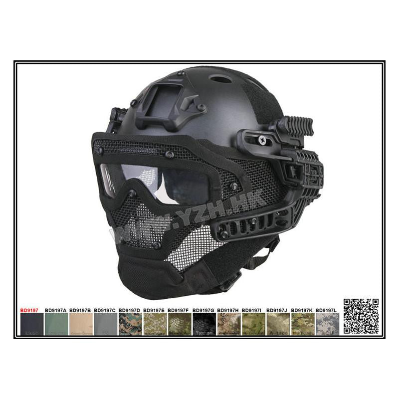New Military G Full Face Helmet with ABS Plastic Mask and Goggles for Airsoft and Paintball War Games