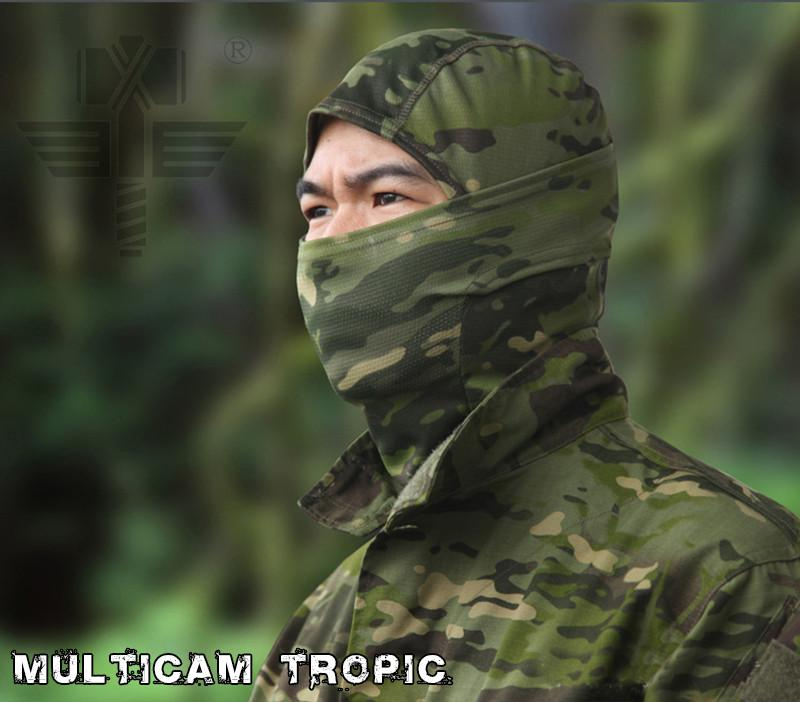 Fast Dry Full Face Hood Mask Hunting Scarf Camouflage Veil Mesh Breathable Chief Rattlesnake - Gogobomo Gear