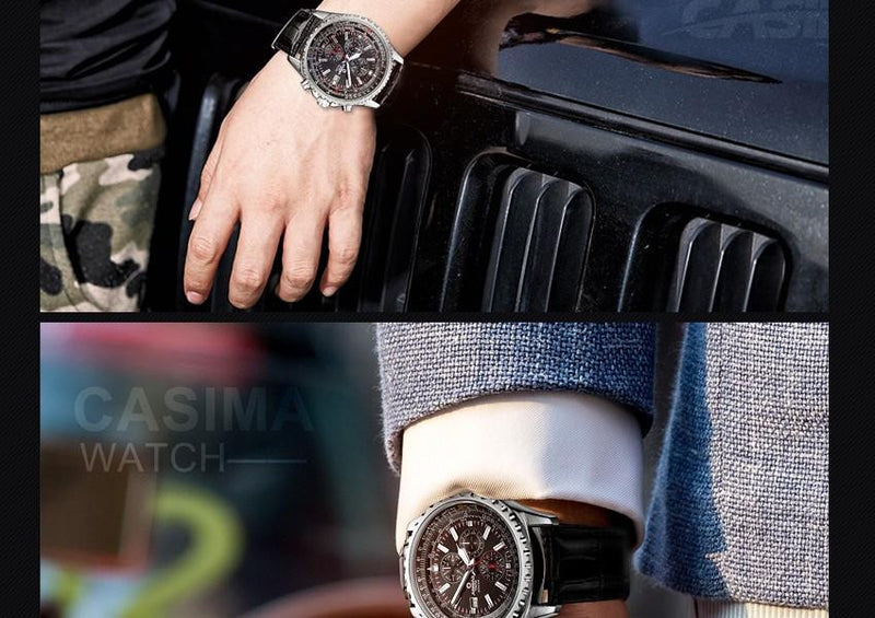 Luxury Waterproof 100m CASIMA Men's Classic Sports Watch
