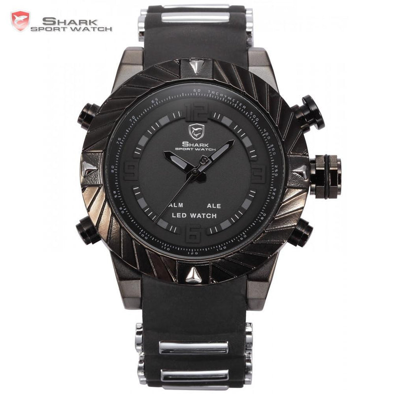 Goblin Shark Sport's Watch w/ 3D Logo Dual Analog and Digital Display
