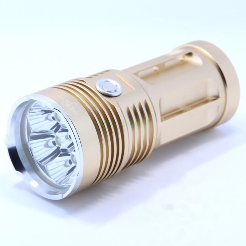High Quality LED Flashlight 10000LM 7x CREE XM-L T6 LED Water-Resistant Super Bright Torch Light