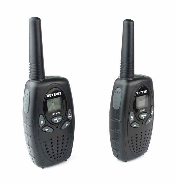2pcs RT628 Walkie Talkie UHF Transceiver Europe Frequency 0.5W 8CH 446MHz LCD Display Radio Communicator