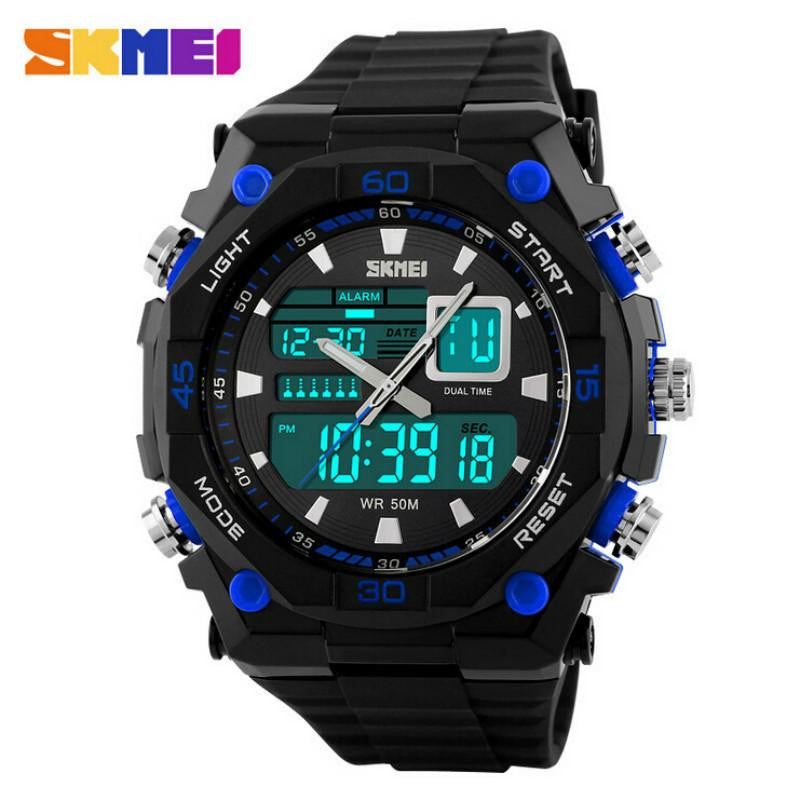 SKMEI Octagon Dial Quartz Digital Men Sports WatchLED Military Waterproof