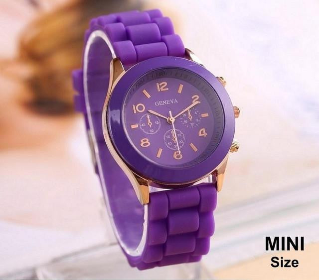 High Quality GENEVA Watch for Women with Silicone Strap